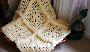 Crochet Blanket - no knitting or crochet - butterfly loom