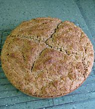 Irish Brown Bread - PERFECTION.  I used buttermilk and also regular whole wheat flour instead of stone ground, so I was worried about it being too dense.  I also used a 9x5 loaf pan instead of the round pan.  Still, I think it came out great, tastes just like the stuff I fell in love with in Ireland.