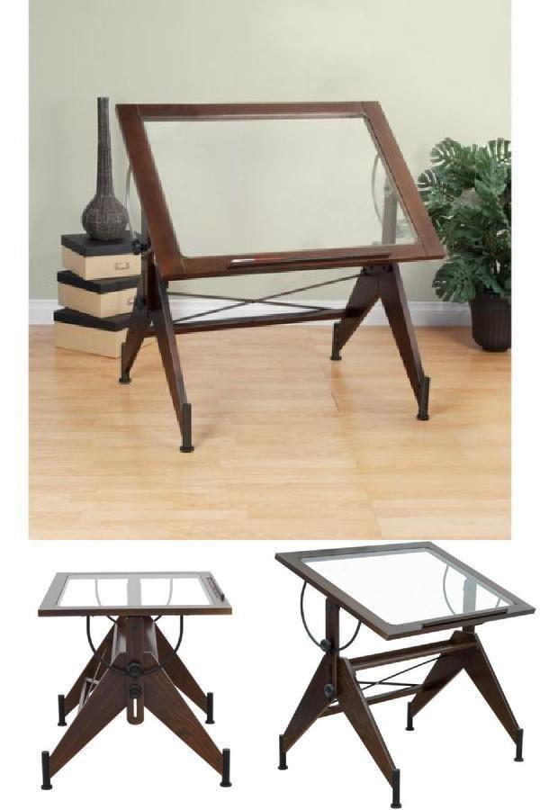 Fabulous Icymi Glass Top Tilt Drafting Light Table Drawing Art Desk Download Free Architecture Designs Embacsunscenecom