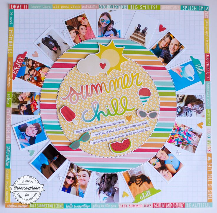 SUMMER CHILL by Rebecca Keppel for Stamp & Scrapbook Expo