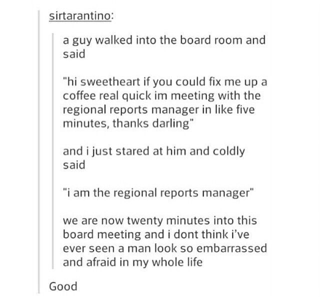 """""""I am the regional reports manager."""""""
