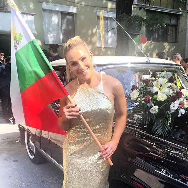 On Friday, September 2, 2016, Miroslav Barnyashev (WWE Superstar Alexander Rusev) and CJ Perry (WWE Diva Lana) held a second wedding in Plovdiv, Bulgaria, which is his native country. The bride and bridesmaids, including Natalie Neidhart Wilson (WWE Diva Natalya), wore custom gowns by designer Olia Zavozina. The wedding will be featured on the E! Network reality show Total Divas #WWE #TotalDivas #wweweddings #hartdynasty