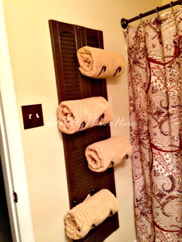 50 Easy DIY Towel Rack Ideas to Organize Your Bathroom Storage DIY