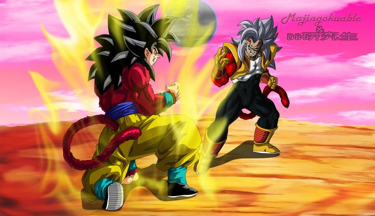 Goku ssj4 vs Baby Vegeta ssj4 v2 by Majingokuable.deviantart.com on @DeviantArt