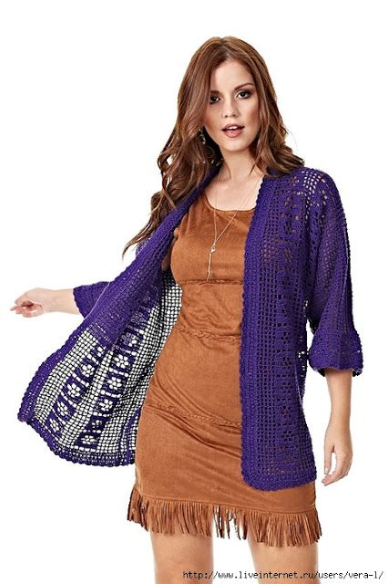 Ideas para el hogar: Chaqueta / Crochet / Dos agujas