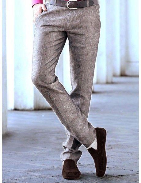 Buy Grey Linen Trouser online. http://www.bharatplaza.com/mens-wear/trousers.html