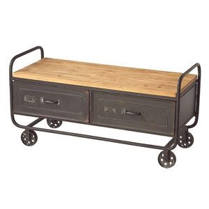 Cbk crate on wheels coffee table recipes to cook for Crate style coffee table