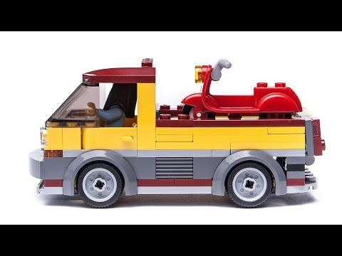 Custom LEGO City TRUCK made from the LEGO City 60150 Pizza Van set. Building Tutorial (video instructions) available for 2,5 eur donation. Pls contact ppsspp...