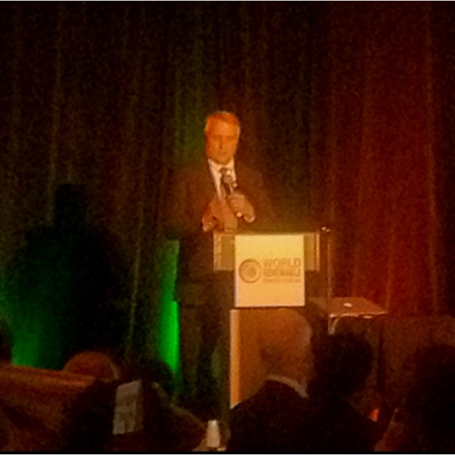 Former Governor of Colorado Bill Ritter speaking at the Gala Awards Banquet at the annual conference of the American Solar Energy Society