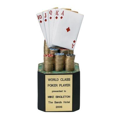 Resin Poker Trophies $26.89