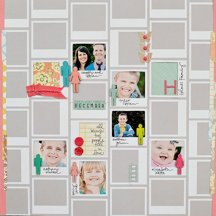 Our Numerical Paper from Classic Calico made a perfect base for Maggie Holmes' gorgeous multi photo page.: Scrapbook Ideas, Classic Calico, Polaroid Frames, Scrapbook Inspiration, Maggie Holmes, Holmes Studios, Numerals Paper, Multi Photo, Scrapbook Layout