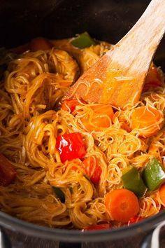 One Pot Glasnudel-Curry - 20 Minuten und unglaublich cremig
