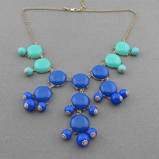 Handmade Bubble Necklace - Bib Necklace- Statement Necklace-