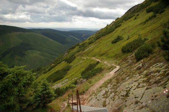 szlak na Śnieżkę po czeskiej stronie