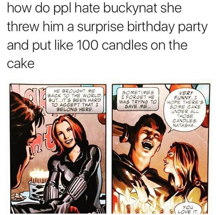 YASSSS #BUCKYNAT<<<WHO EVEN HATES THEM TOGETHER?!?! HONESTLY THEY ARE ONE OF THE BEST COUPLES IN MARVEL COMICS AND FOREVER MY OTP