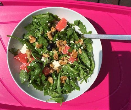 Hawaiianischer Wassermelonensalat
