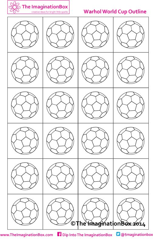 World Cup 2014 kicks off here! Warhol Inspired Football pattern, free to download at The ImaginationBox