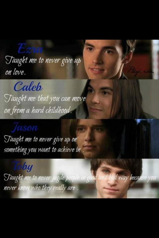 PLL boys I want a Toby or an Ezra  hump.  Oh well I guess I'll stick to my imaginary boyfriend.....ugh even he hates me.