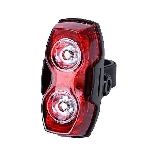 LE Luces de Bicicleta LED, Alimentado por Batería, 2 LED, Opciones 3 Modo Luz, 2 Baterías AA Incluidas, Impermeable Luces de la Cola, Luz Posterior de la Bici
