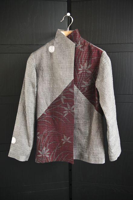 Alternate chevron jacket, 2 vintage linens.  $1995.