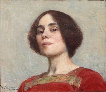 Elin Kleopatra Danielson-Gambogi (Finnish painter, 1861-1919) Self-Portrait