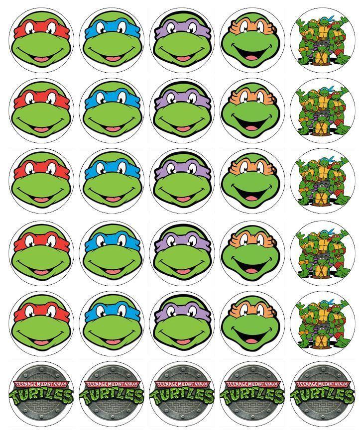 30 X Teenage Mutant Ninja Turtle Cupcake Toppers Edible Fairy Cake Toppers Ninja Turtle Cupcakes Ninja Turtle Cake Ninja Turtles