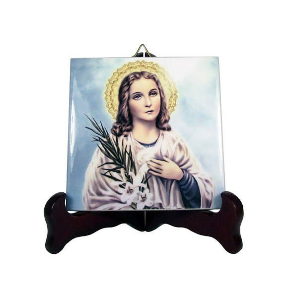 A new wonderful ceramic icon dedicated to St Maria Goretti is available now in my Etsy Store: >>> https://www.etsy.com/listing/546645292 <<<  100% handmade in Italy by @TerryTiles2014  #mariagoretti #stmariagoretti #saintmariagoretti #catholicgifts #catholic #faith #pray #prayforus #etsyfinds #crafts #religious #handmade