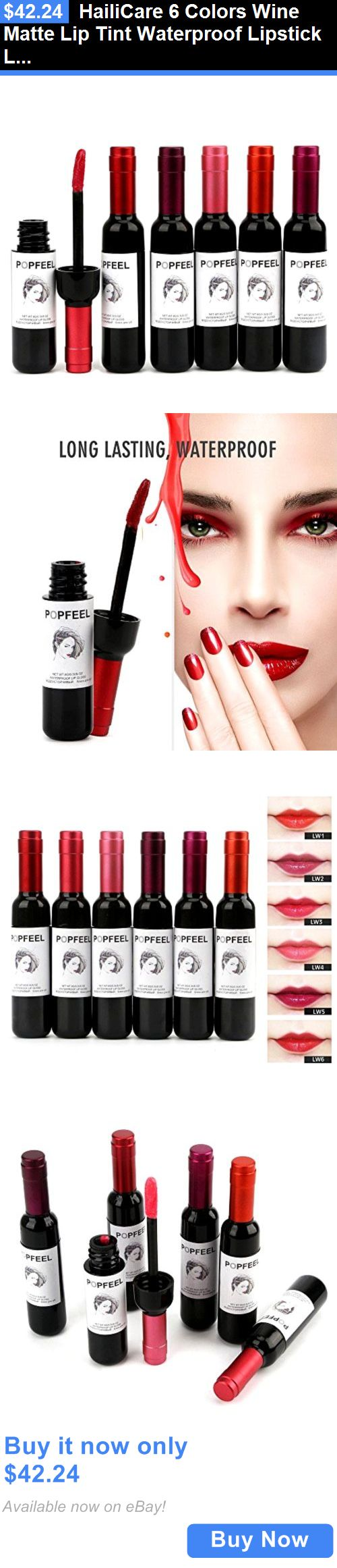 Beauty Makeup: Hailicare 6 Colors Wine Matte Lip Tint Waterproof Lipstick Lip Gloss 6Pcs/Lot BUY IT NOW ONLY: $42.24