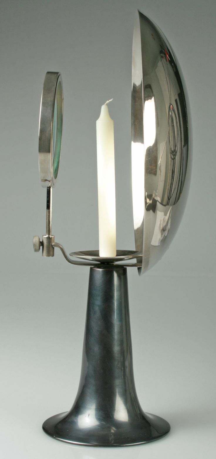 Vintage Parabolic Wick Lamp, A Magnifying Appartus | From a unique collection of antique and modern scientific instruments at http://www.1stdibs.com/furniture/more-furniture-collectibles/scientific-instruments/