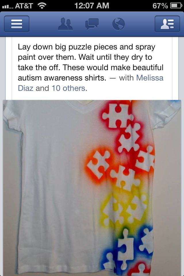 Autism awareness...would love to make these for us in honor of Emily!