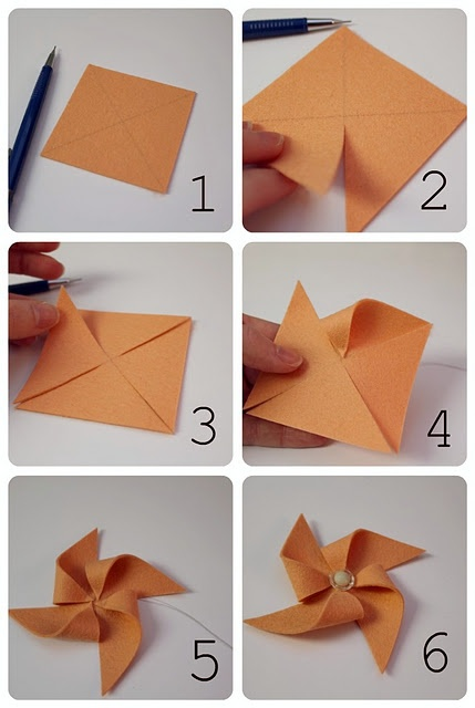 pinwheels - SOOOO easy to make. I love them! And you can pick your favorite paper patterns for each pinwheel!