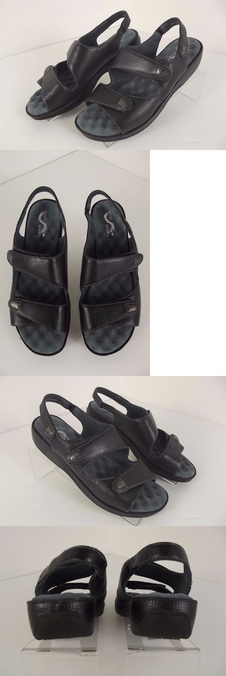 Women Shoes: New Soft Walk Black Bolivia Sandals Women S Size 10 M Shoes Leather Slingback -> BUY IT NOW ONLY: $44.5 on eBay!