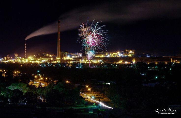 Photo taken last night 12 November, 2016, from Davis Road hilltop, Mines Xmas Party Fireworks