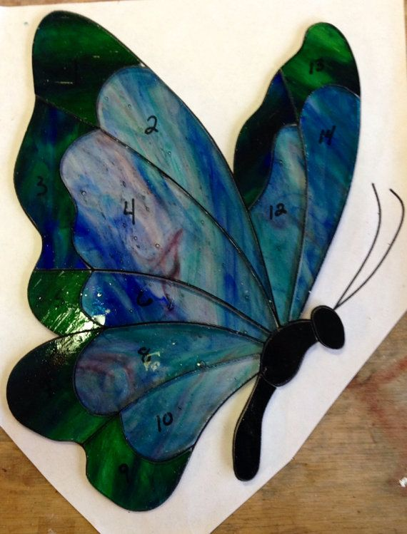 Butterfly Stained Glass Sun Catcher by Sweveneers
