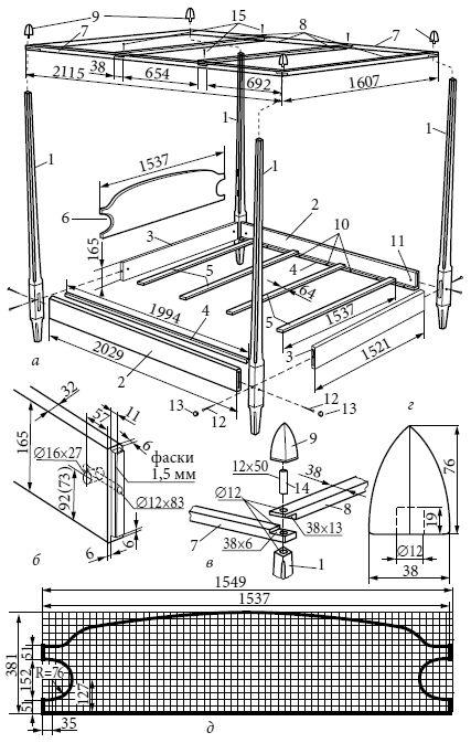 Кровати, диваны, канапе, тумбочки, столики и другая мебель для детской и спальни (fb2)   Либрусек