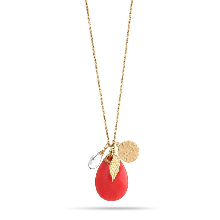 Gold-Tone Metal Coral Earrings And Djustable Lobster Claw Closure Necklaces Set