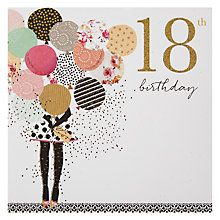 Buy Portfolio Balloons 18th Birthday Card Online at johnlewis.com                                                                                                                                                                                 More