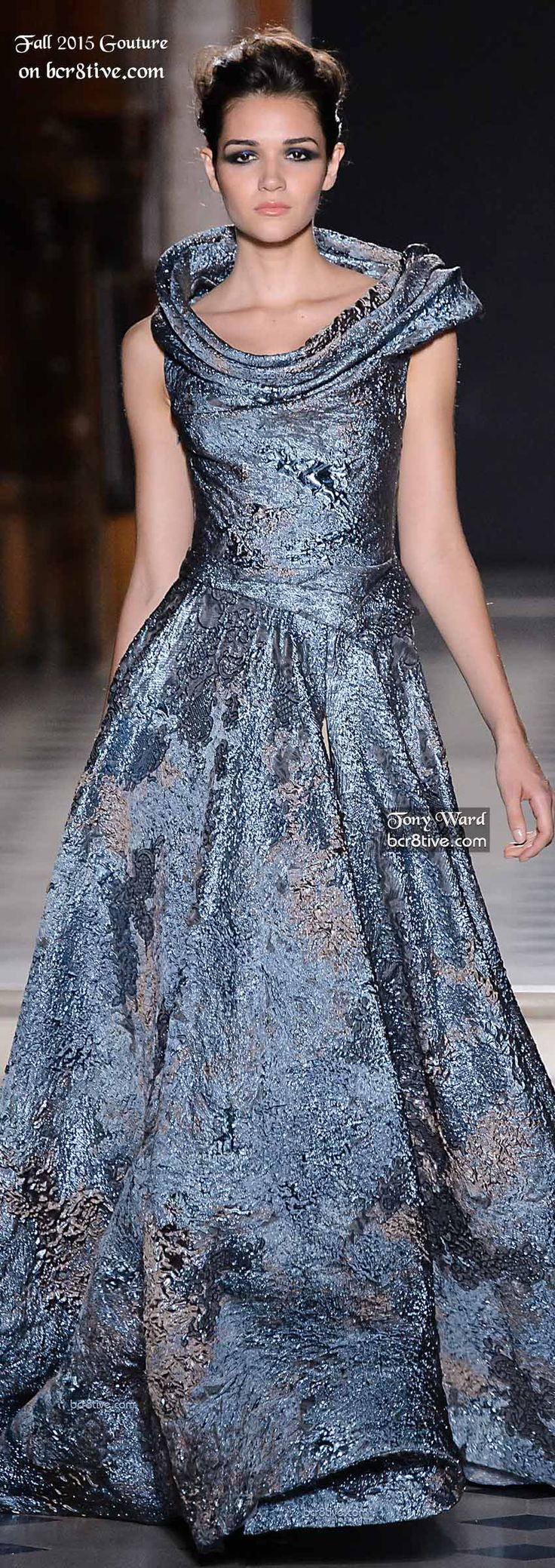 Tony Ward ~ Couture Silvery Blue Metallic Gown, Fall 2015-16