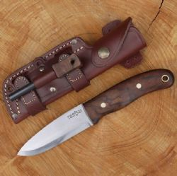 NEW TBS Timberwolf Bushcraft Knife - Firesteel Edition - Walnut