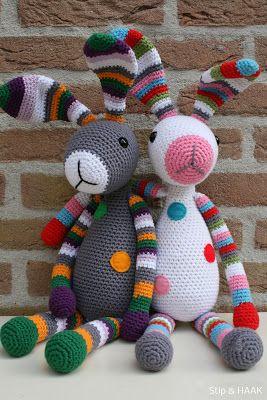 Stip & HAAK: Snuf konijn INSPIRATIE kleuren