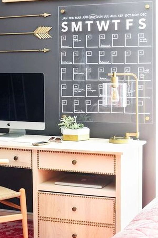 Merveilleux Use Chalkboard Paint To Create A Calendar On Your Wall   How To Decorate  Your Room Without Buying Anything. Find This Pin And More On Home Office  Ideas ...