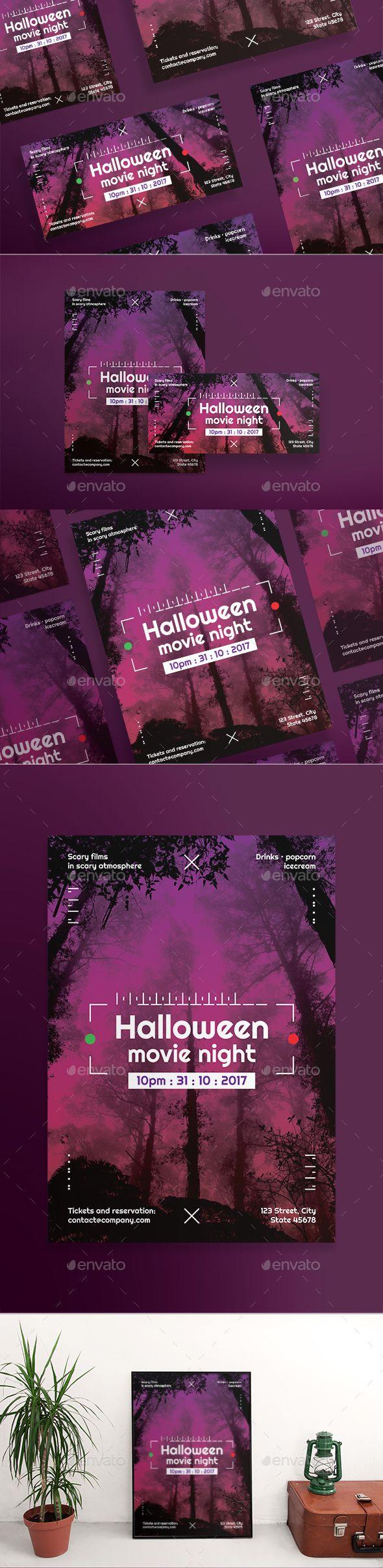 #Halloween Movie #Flyers - Holidays Events