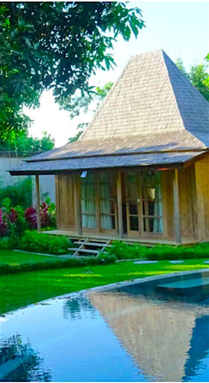 Traditional wooden Joglo house, Bali, Indonesia.  Beyond Villas Bali has a selection of beautiful villas, all over Bali, to suit every style & Budget. www.beyondvillas.com, Bali, Indonesia