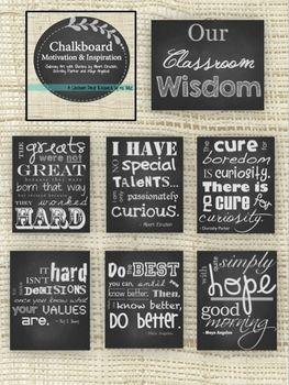 CHALKBOARD SUBWAY ART: CLASSROOM INSPIRATION AND MOTIVATION - TeachersPayTeachers.com
