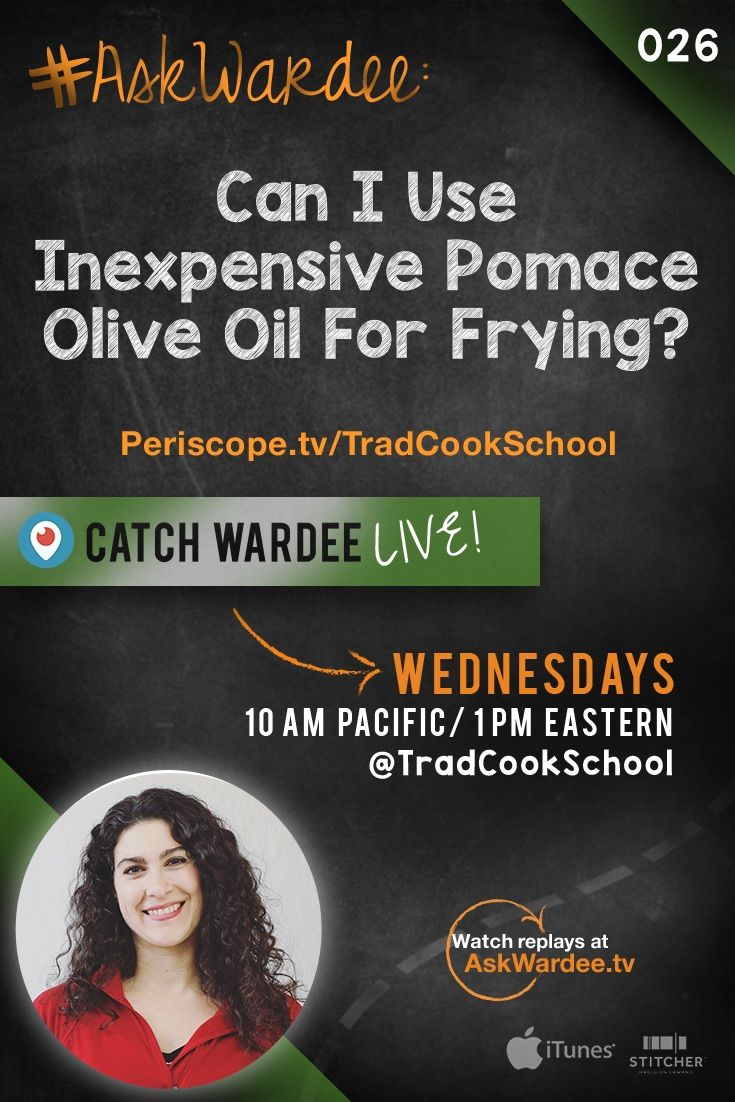 """#AskWardee 026: Can I Use Inexpensive Pomace Olive Oil For Frying? 