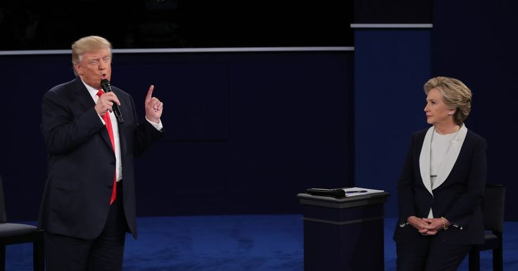 He talks only in key words and insults, right to his base. What We Saw in the Second Debate: Trump vs. Clinton on women, national security and everything else.