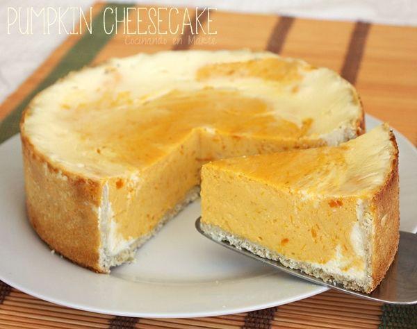 Cocinando en Marte: Pumpkin Cheesecake {tarta de queso y calabaza}
