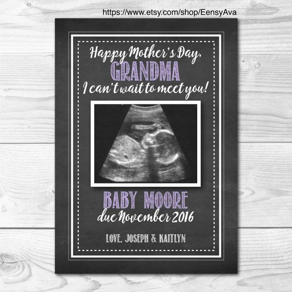 Mother's Day Pregnancy Announcement Card  Pregnancy by EensyAva