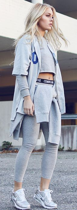 Grey Sporty Combo Fall Inspo by Angelica Blick