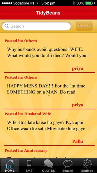 TidyBeans like to share its new exciting Mobile App that launched recently on Apple Store. This Mobile App give you easy access to the jokes. Access to thousands of Santa Banta Jokes, SMS and Quotes. Collection of best jokes by individuals to fill your life with fun and laughter!  More at : https://itunes.apple.com/us/app/tidybeans/id804671943